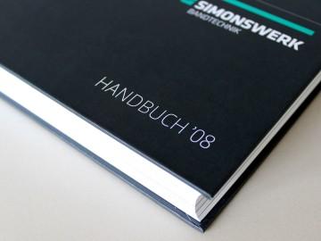Simonswerk Kompendium 2008, Kataloggestaltung, Handbuch, Titel Detail
